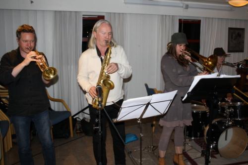 Lars Birkeliund med venner